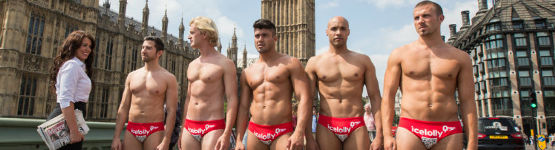 image describing Hunks in Trunks: Icelolly shows off its best packages